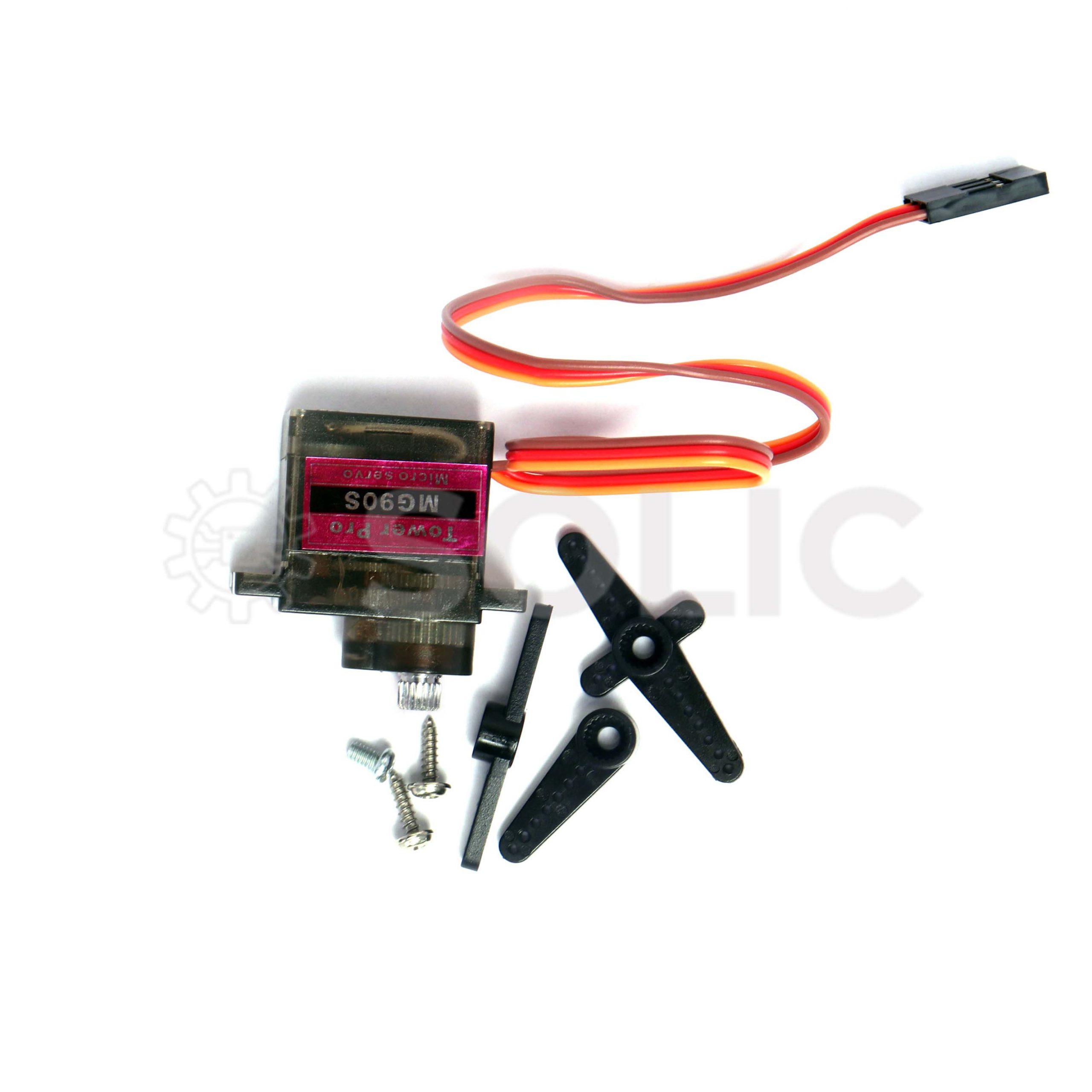 TOWER PRO TYPE compatible  Mg90s 9g metal geared micro servos qty 4 new+fittings
