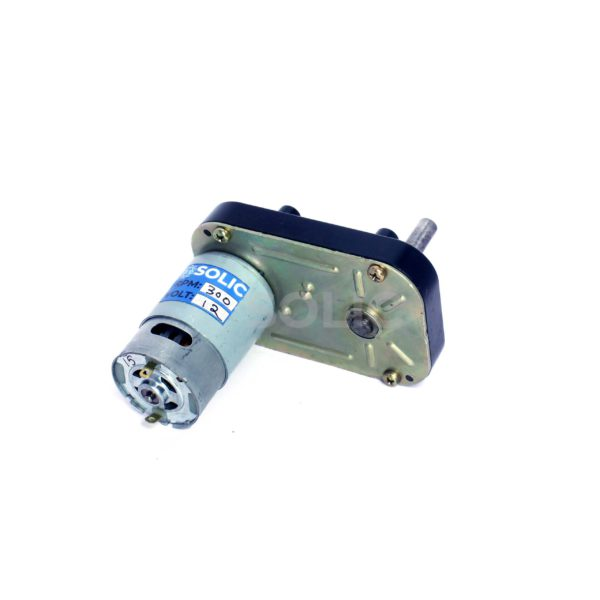 300 RPM Square Geared DC motor